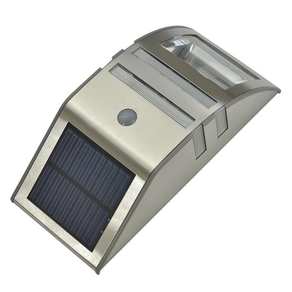 Stainless Steel Solar Power Motion Sensor LED Light Garden Wall Light Path Lamp eBay